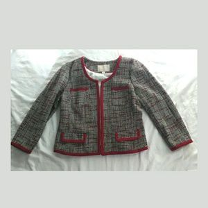 BR Womens Open Front Tweed Blazer Jacket